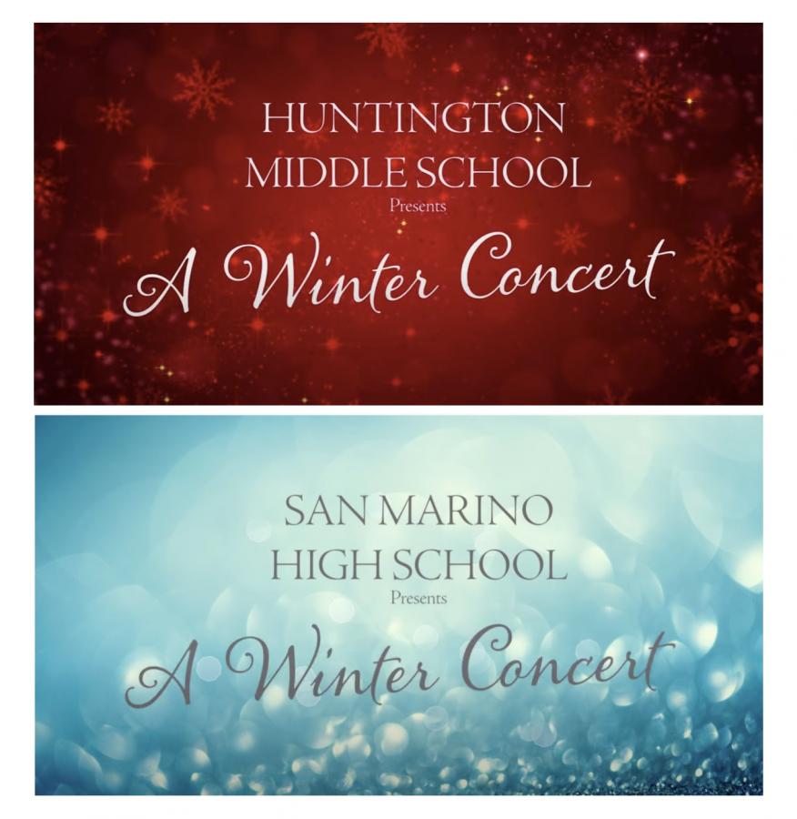 Combined San Marino Choirs Winter Performance