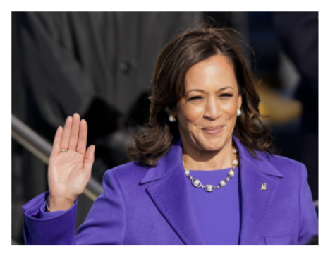 Kamala Harris Shines in Purple as the First Female Vice President