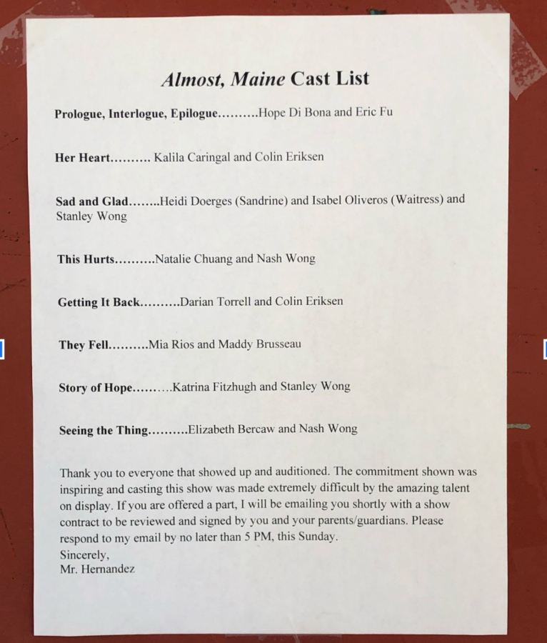 Almost, Maine Comes to SMHS